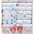 Primavera Verão de Algodão 18 Conjuntos de Presente Do Bebê Recém-nascido Produtos Lua Cheia Do Bebê Da Menina do Menino Se Adapte Conjuntos de Roupas