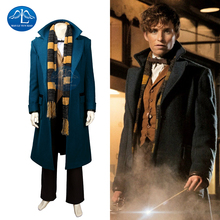 2017 Hot Fantastic Beasts and Where to Find Them Newt Scaman Cosplay Costume Mens Halloween Costumes