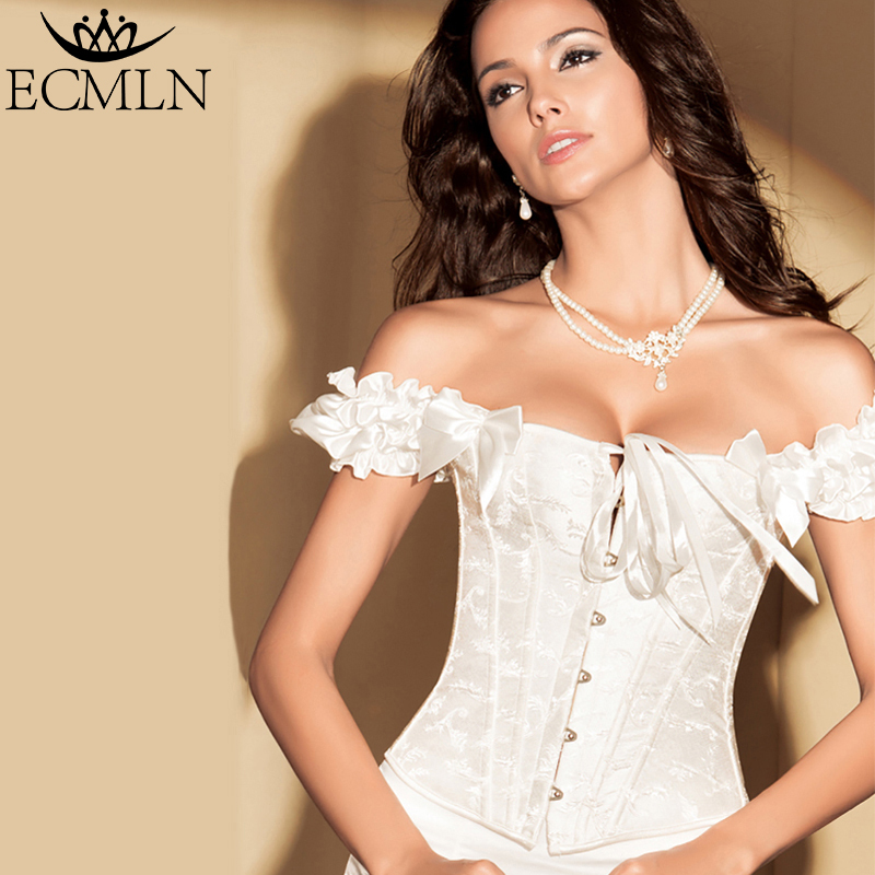 Women Sexy Satin   Corset   Brocade Floral   Bustier   Top Lace Up Back Lingerie Bodyshaper Shapewear Waist Exercise   Corset   DropShipping