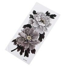 Классная татуировка в форме цветка наклейка водонепроницаемые, влажность прочный леди элегантный сексуальный цветок рука наклейка на грудь наклейка Изысканная татуировка