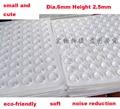 50 grãos Dia.6mm Altura 2.5mm partículas de Colisão Porta Do Armário de Cozinha de Silicone Touch Pad Bumper Parar Damper Coxim