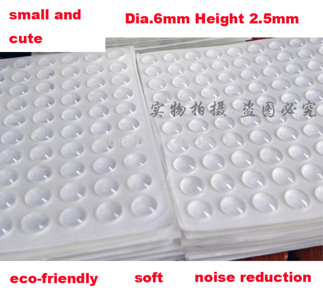 50 Grains Dia.6mm Height 2.5mm Silicone Collision Particle Kitchen Cabinet  Door Touch Pad Bumper Stop Damper Cushion