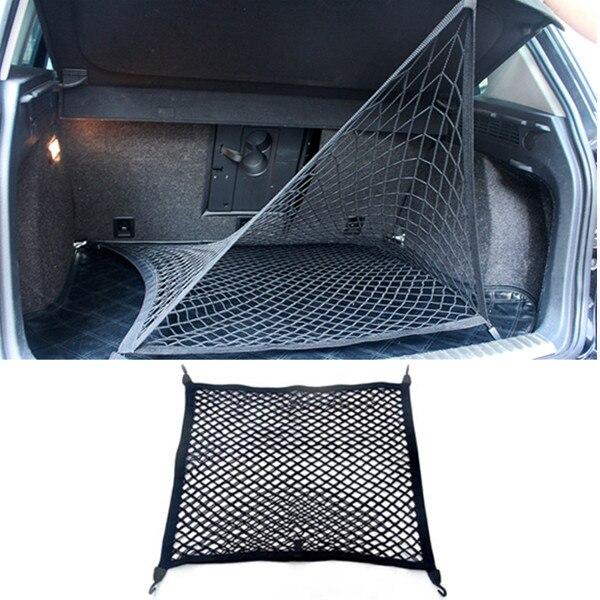 FLYJ автомобильное заднее сиденье багажника эластичная Сетчатая Сумка для хранения багажника автомобиля Органайзер сумка для хранения карманная клетка авто аксессуары - Название цвета: D