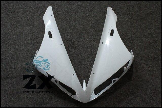 Полный Обтекатели для мотоциклов передняя Обтекателя Клобук нос обтекатель голову на Ямаха YZF R1 и YZF-R1 в 04 05 06 ZXMT неокрашенный