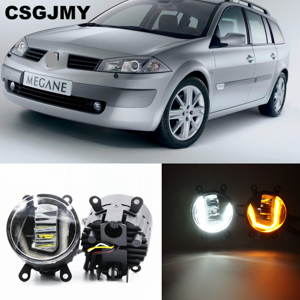 CSGJMY 3 IN 1 Functions Auto LED For Renault Megane 2 II DRL Daytime Running Light