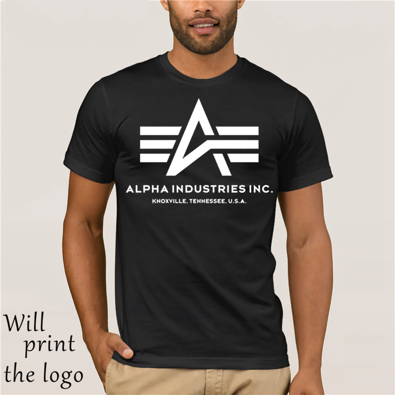 Mens T Shirt Fashion 2017 Alpha Industries T-shirt Cotton Short Sleeves Tee Shirt Casual Hip Hop Tee Shirt Summer Hipste T Shirt