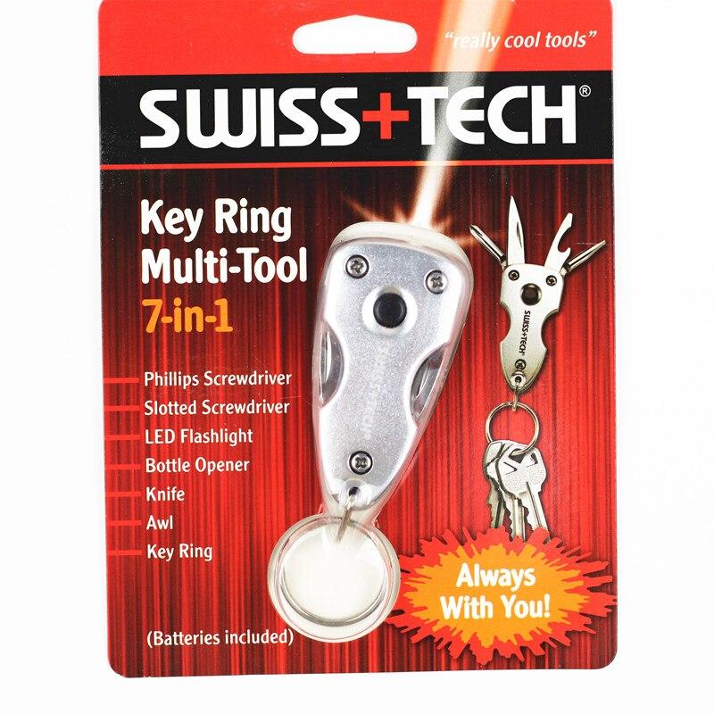 Tecnología suiza 7 en 1 Abridor de Bolsillo Llavero Multi-Herramientas de Superv