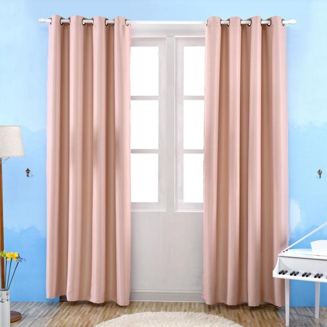 Solid Color Blackout Curtains for Living Room Modern Curtains for ...