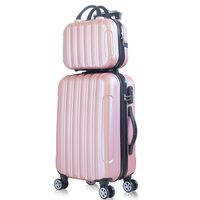2 piece set suitcase,20 inch trolley luggage,Universal wheel 24 inch trolley case,26password valise,Korean hard luggage box