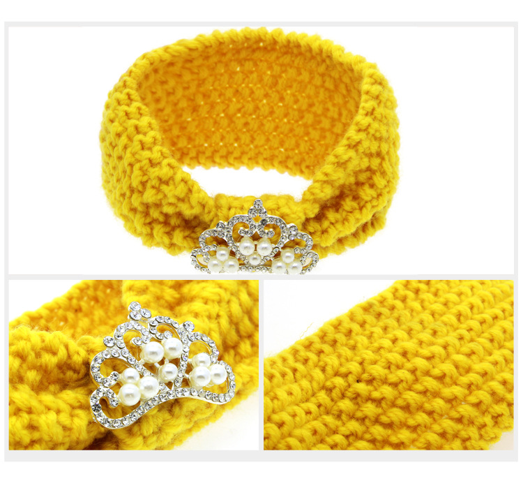 Rosa Mädchen Knit Crochet Turban Stirnband Warme Stirnbänder ...