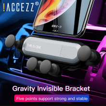 !ACCEZZ Gravity Car Phone Holder Air Vent Mount Clip For iPhone XS Universal Mobile Phone Stand Support GPS in Car Auto Bracket universal gravity air vent mount gps stand car phone holder bracket supplies gravity car holder for phone in car air vent clip m