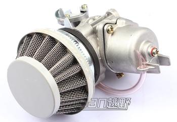 CarburetorCarb carburador + acero 44mm filtro de aire azul + estampado azul + pila 47cc 49cc Mini moto suciedad bicicleta de bolsillo ATV Quad Mini moto Minicross