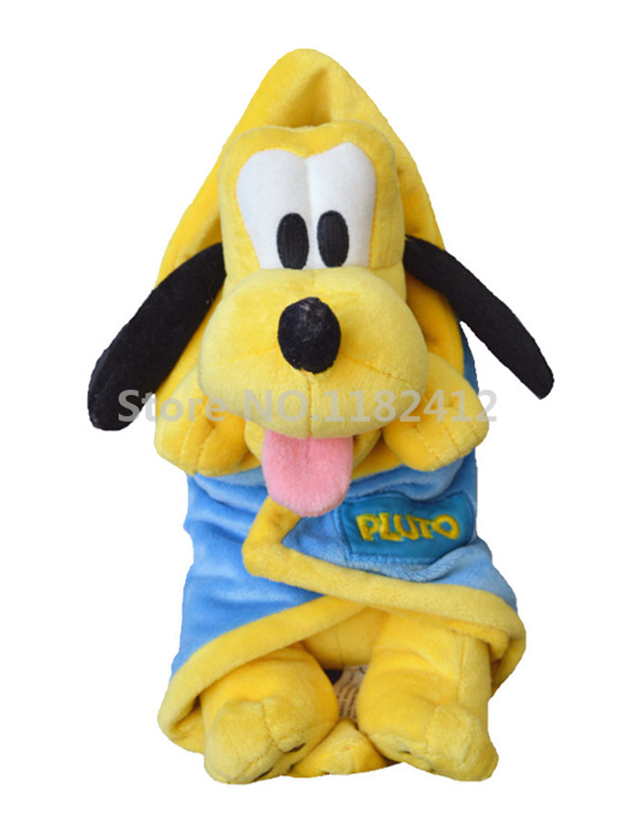 4cff9183d05 Babies Pluto Dog Plush Toy With Blanket Swaddle Towel Cute Stuffed Animals  Baby Kids Toys for Children Gifts