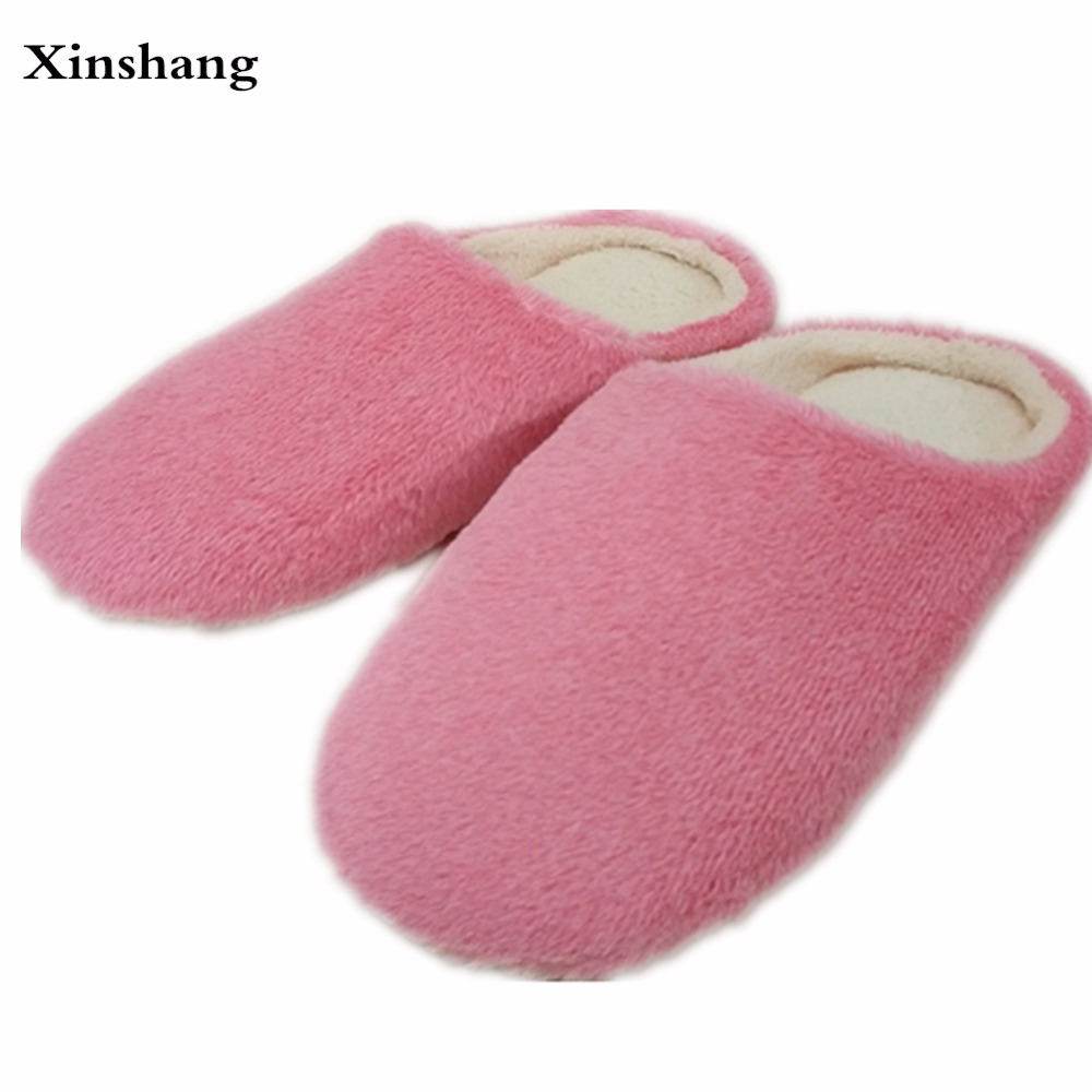 2017 Men's Home Slippers Soft Bottom Winter at Home Thermal Cotton-Padded Slippers For Men IndoorFloor Warm Slippers Flat Shoes men at arms