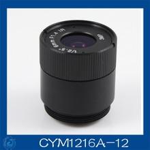 3MP. cctv camera lens 12mm Fixed Iris lens, 1/2.5″ cs  for Security Camera, Free shipping.CYM1216A-12