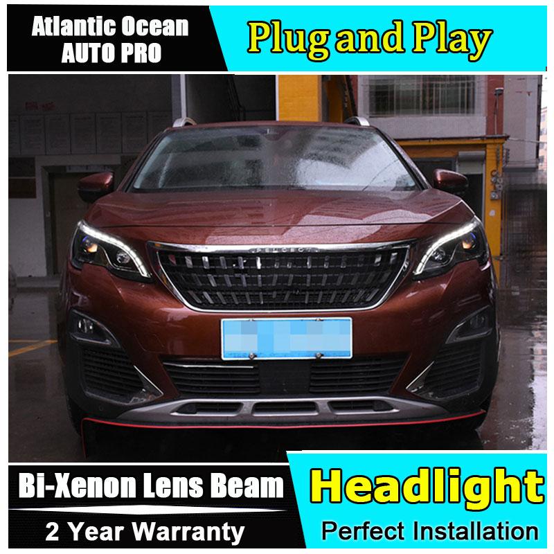 car styling LED Head Lamp for Peugeot 4008 led headlight 2017 for 4008 head light drl