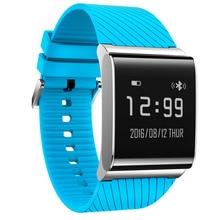 Синий Смарт-браслет X-9 плюс монитор сердечного ритма сидячий напомнить смарт-браслет с шагомером для Xiaomi Huawei Meizu смартфон