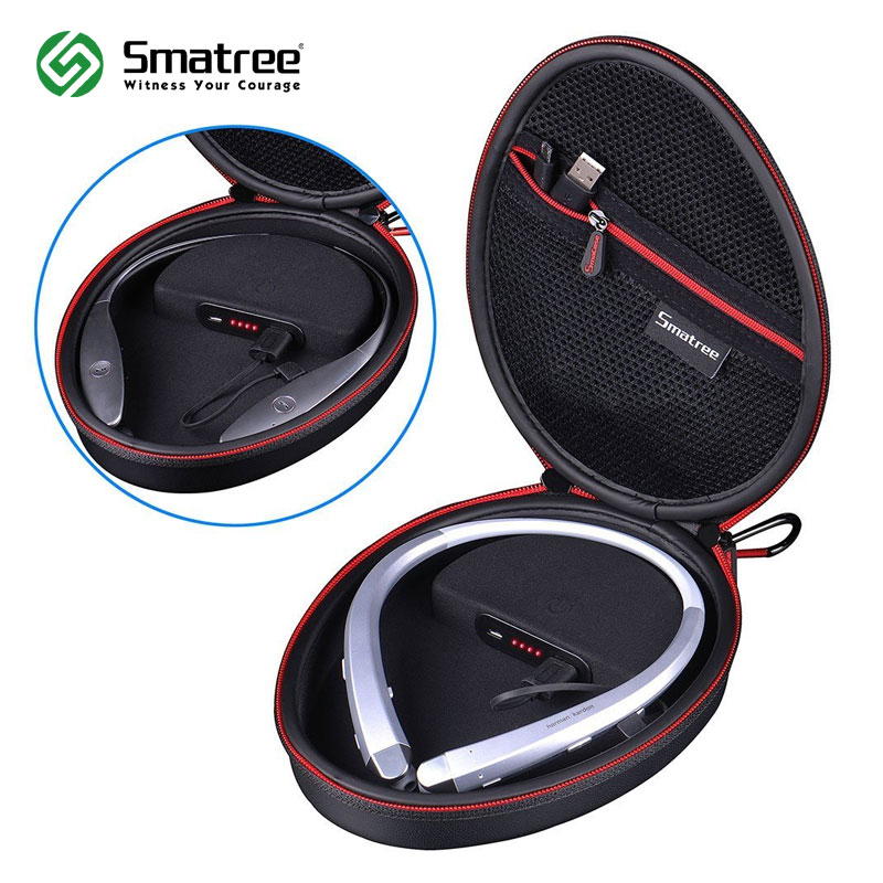 цена на Smatree Charging Case S100P Portable Waterproof Case for LG Wireless Headphone Tone+ HBS-910/1100//900/800/760/750/730/700W