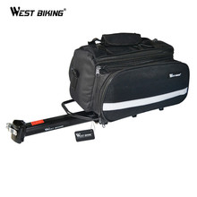 WEST BIKING 50kg Capacity Bike Racks+Bag Waterproof Bicycle Rear RainCover Bag Volume 10-25L Riding Bicycle Bike Cycling Bag