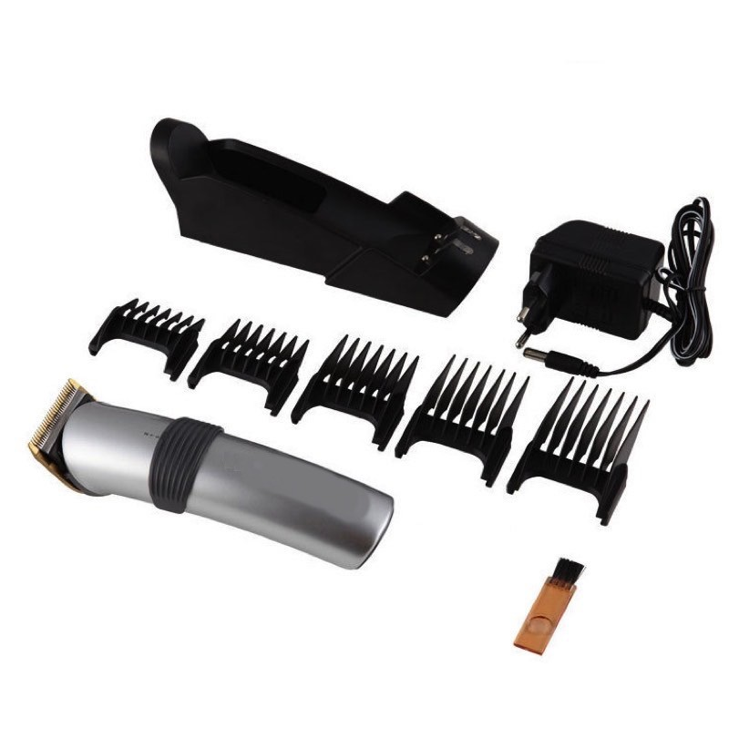 Electric 2 speed Hair Clipper Rechargeable Hair Trimmer Cordless Adjustable Clipper With Charge Stand and 4 Guide Comb4