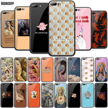 WEBBEDEPP Devil angel Tempered Glass TPU Cover for Apple iPhone 6 6S 7 8 Plus 5 5S SE XR X XS 11 Pro MAX Case webbedepp hot red dead redemption 2 glass phone case for apple iphone xr x xs max 6 6s 7 8 plus 5 5s se