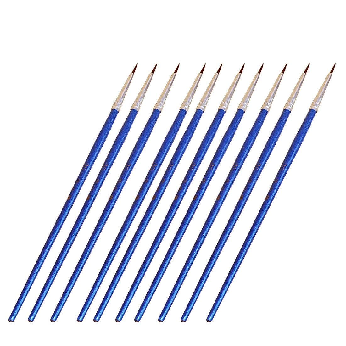 10pcs/Set Long Tail Nylonhair Hook Line Pen Blue Baton Art Supplies Drawing Art Pen Paint Brush Nylon Brush Painting Pen