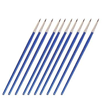 10pcs/Set Long tail nylonhair hook line pen Blue Baton Art Supplies Drawing Art Pen Paint Brush Nylon Brush Painting Pen