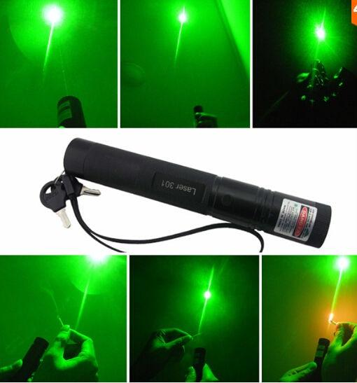 High Power Military 100W 1000000m 532nm Green Laser Pointer Flashlight Burning Match,Camping Signal Lamp Hunting Burn Cigarettes