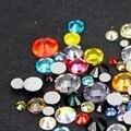 Frete grátis bom Feedback 1440 pçs/saco Nail Art strass cristal todos os tamanhos cor Mix cor ss6 ss8 ss10 ss16 ss20 ss3 ss5