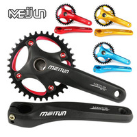 MEIJUN mountain bike, aluminum alloy screw, hollow integral single speed sprocket, 36T tooth disk,bicycle fittings BCD104