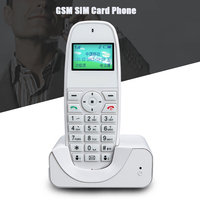 GSM 900/1800MHZ Cordless Phone Landline Telephone With SIM Call ID Fixed Wireless Telephone For Home Office