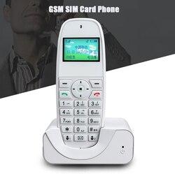 Gsm 900/1800 mhz telefone sem fio telefone fixo telefone fixo sem fio com sim chamada id para escritório em casa