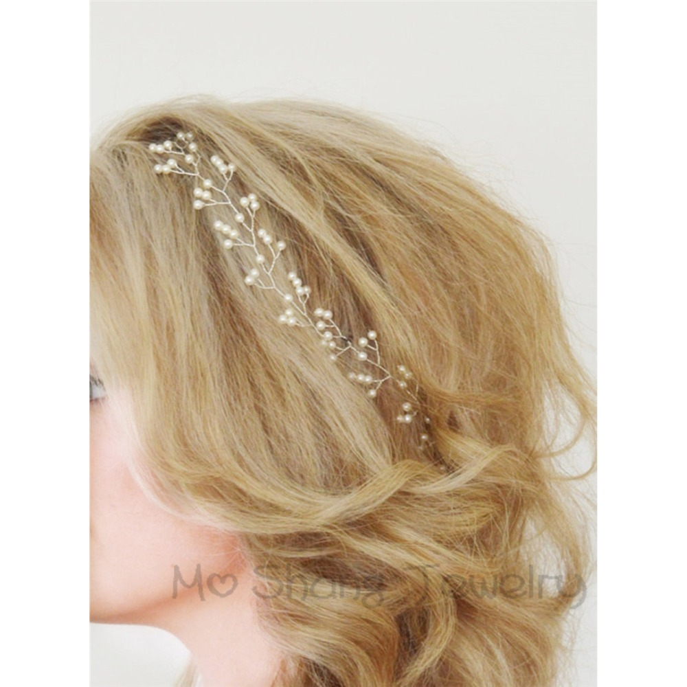 Marriage ornaments - Women Headband Handmade Hair Ornaments Simulated Pearl Jewelry Marriage Decoration Festival Gifts Wedding Party Accessories