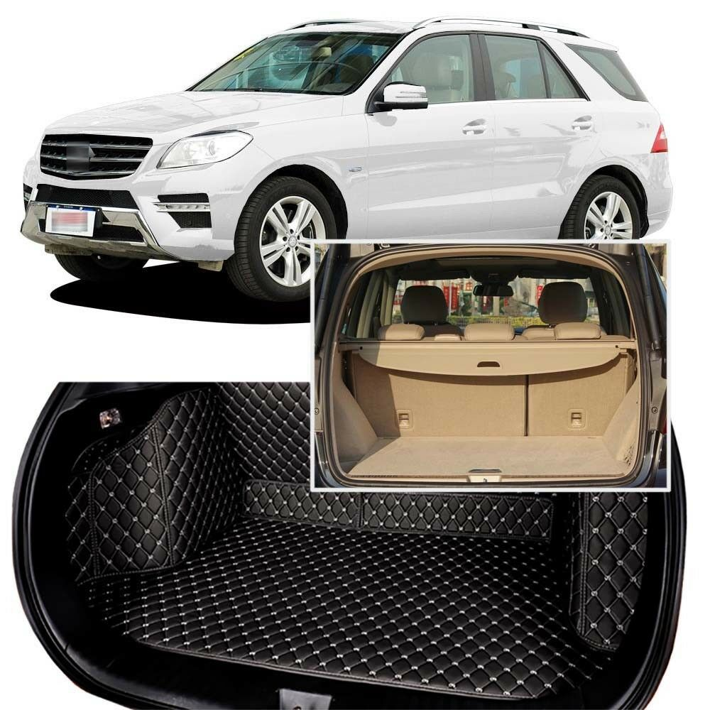 Full Covered Seat Pad Cargo Box Trunk Floor Mat Carpet Liner For Mercedes-Benz M-Class 2014
