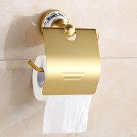 Espace en aluminium d'or porcelaine salle de bains paroi de support de papier support de papier toilette porte-rouleau de salle de bains accessoires