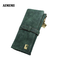 Korean Version Of The Long Section Of The Women S Wallet With Two Wallet Deduction Belt