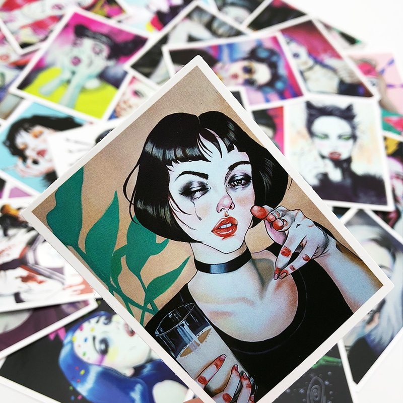 25Pcs/Lot Sexy Girls Stickers for Mobile Phone Car Bicycle Skateboard Refrigerator Laptop Decals Pvc Waterproof Sticker