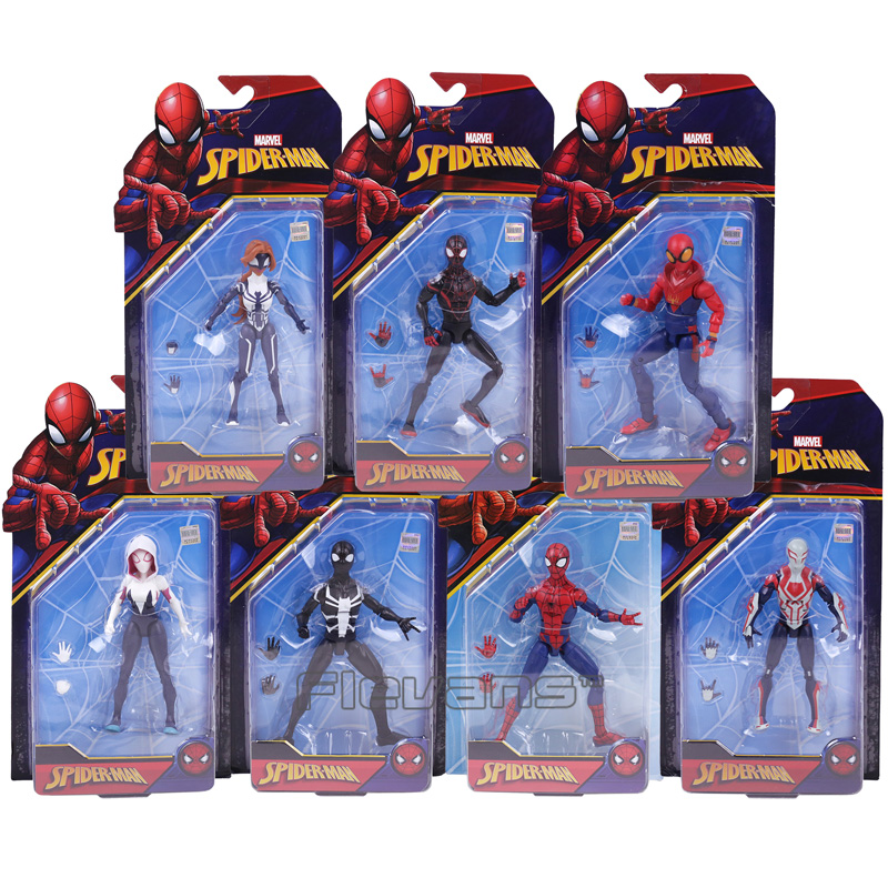 Marvel Spider Man Homecoming Spiderman 2099 Agent Venom Gwen Stacy  Spider Woman PVC Action Figure Toys 7 Styles allenjoy photography backdrops floor mosaic school blackboard kids vinyl photocall photographic studio computer printing lovely