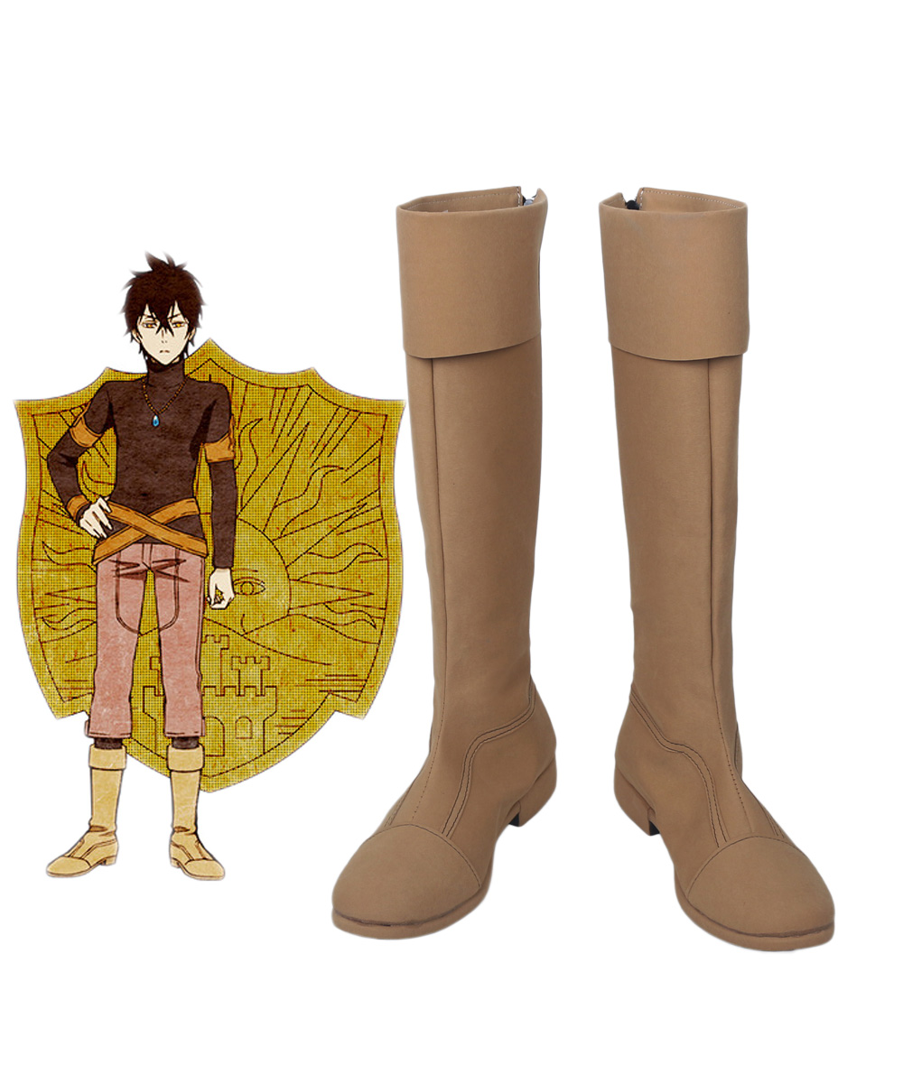 Black Clover Kingdom Golden Dawn Magic Knight Yuno Cosplay Boots Brown Shoes Custom Made