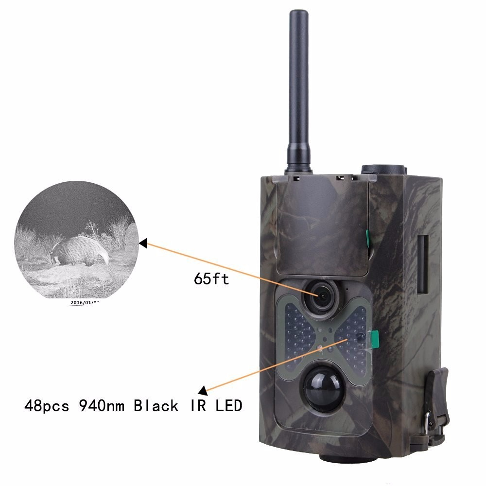 Hunting Trail Camera HC500M Night Vision SMS Controlled GSM Digital Infrared Trail Camera Scouting Surveillance Camera 48 LEDs hc500m hd gsm mms gprs sms control scouting infrared trail hunting camera with 48pcs ir leds night vision wildlife surveillance