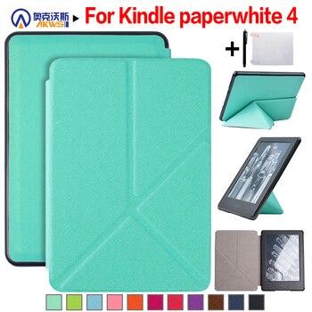 Walkers บางสมาร์ท Origami สำหรับ Amazon Kindle Paperwhite 4 (2018 Release) 6 ''E - reader + Stylus + ฟิล์ม
