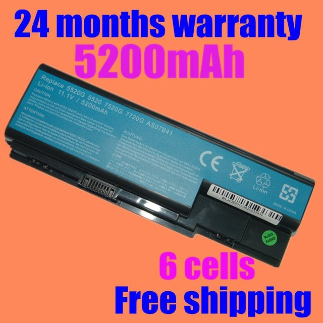 JIGU New laptop battery for eMachines E510 E520 G420 G520 G620 G720 for EasyNote LJ61 LJ63 LJ65 LJ67 LJ71 LJ73 LJ75 as07b31