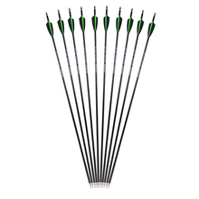 6/12PCS Spine 500 30 Archery Mix Carbon Arrows Shaft Tips Targrt Points ID 6.2mm OD 7.8mm For Outdoor  Shooting Hunting