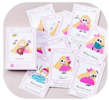 L151- Pink Girl Paper Lomo Cards(1pack=28pieces)