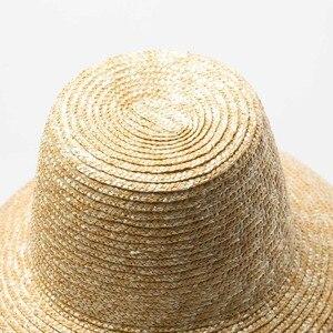 Image 4 - جديد شعبية مصباح شكل قبعة الشمس للنساء كبيرة واسعة حافة الصيف قبعة للشاطئ السيدات عالية الجودة القش قبعة UV حماية دربي السفر قبعة