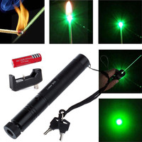 5mw 532nm 303 Green Laser Pointer Light Pen Lazer Beam High Power Battery Charger With
