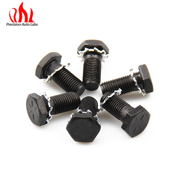 Car Accessories Bolts 7/16 in.-20 x 31/32 in 6 pcs in Black Plated for Chevy and for Ford Auto Performance Part