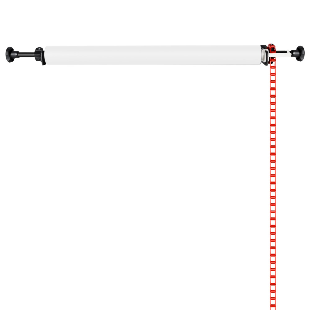 Neewer Photography Single Roller Wall Mounting Manual Background Support System Photo Studio Equipment Heavy Duty image
