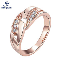 R149 B 8 High Quality Nickle Free Antiallergic New Fashion Jewelry Rose Gold Plated Lab Diamond