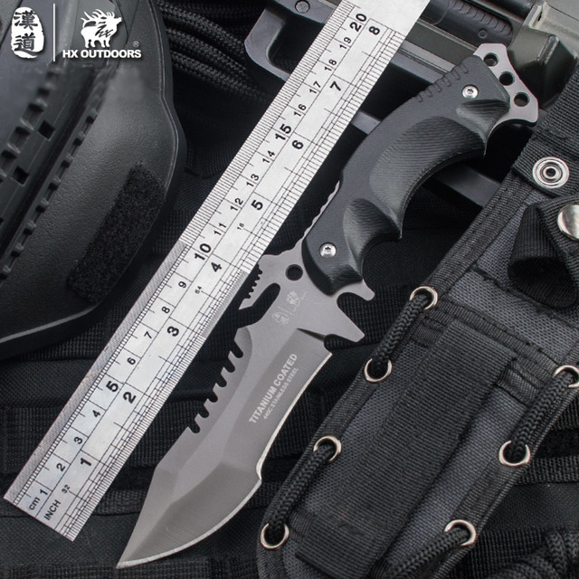 outdoor font b Tactical b font camping straight font b knife b font multifunction jungle survival